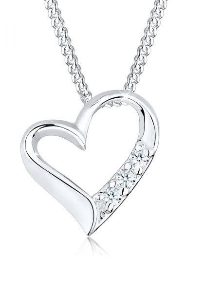DIAMORE Halskette Herz Ewigkeit Diamant (0.045 ct.) 925 Silber