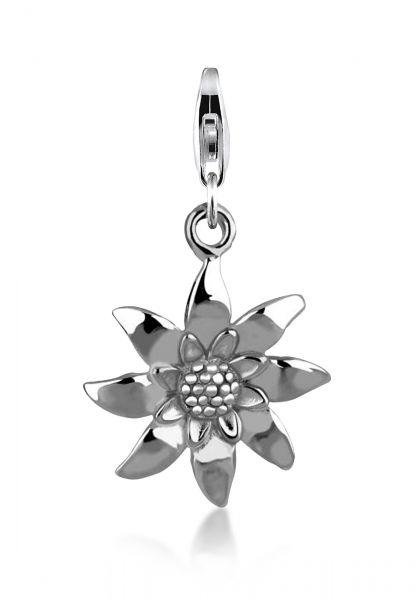 Charm Edelweiss | 925er Sterling Silber