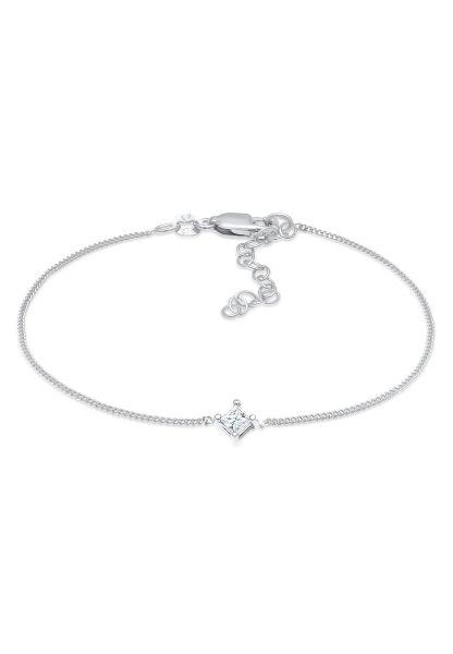 Elli DIAMONDS Armband Solitär Viereck Diamant (0.1 ct.) 925 Silber