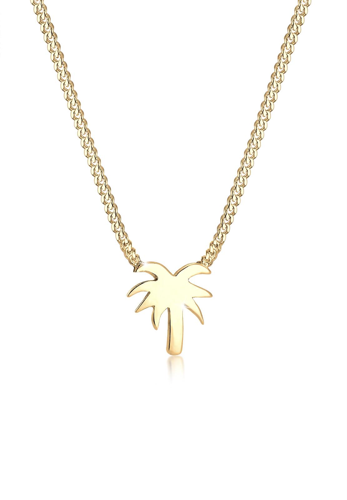 Halskette Palme | 925 Sterling Silber vergoldet