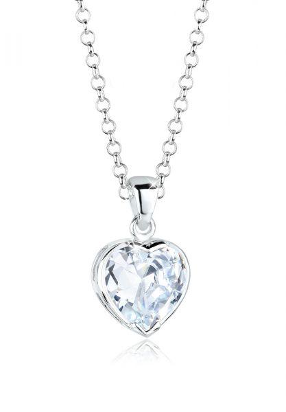 Elli Halskette Herz Liebe Zirkonia In Love 925 Sterling Silber