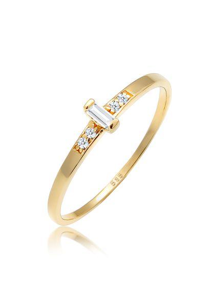 Verlobungsring | Diamant ( Weiß, 0,02 ct ) | 585 Gelbgold