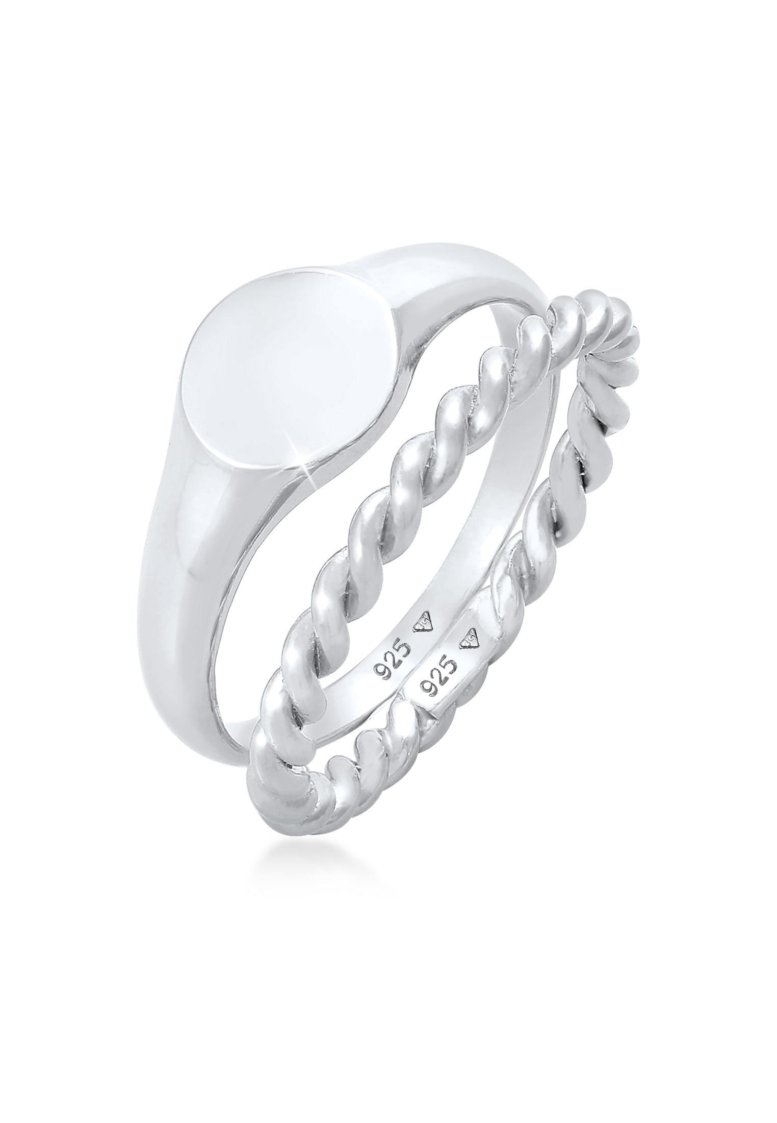 Ring 2er Set | 925er Sterling Silber