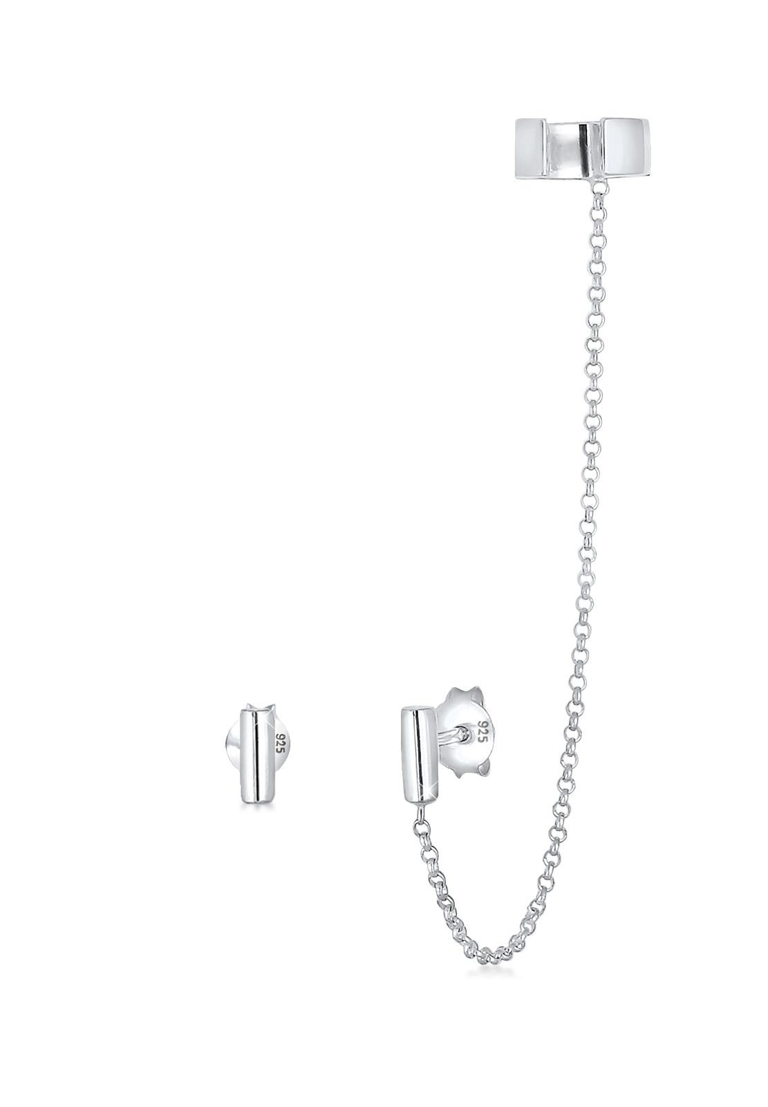 Ohrstecker Ear Chain | 925er Sterling Silber