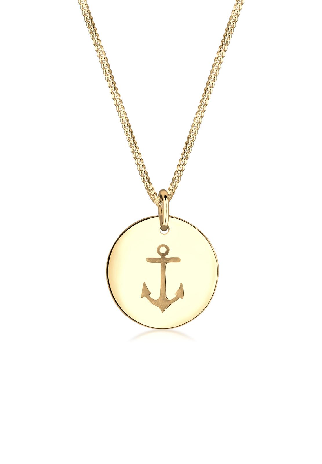 Halskette Anker | 925 Sterling Silber vergoldet