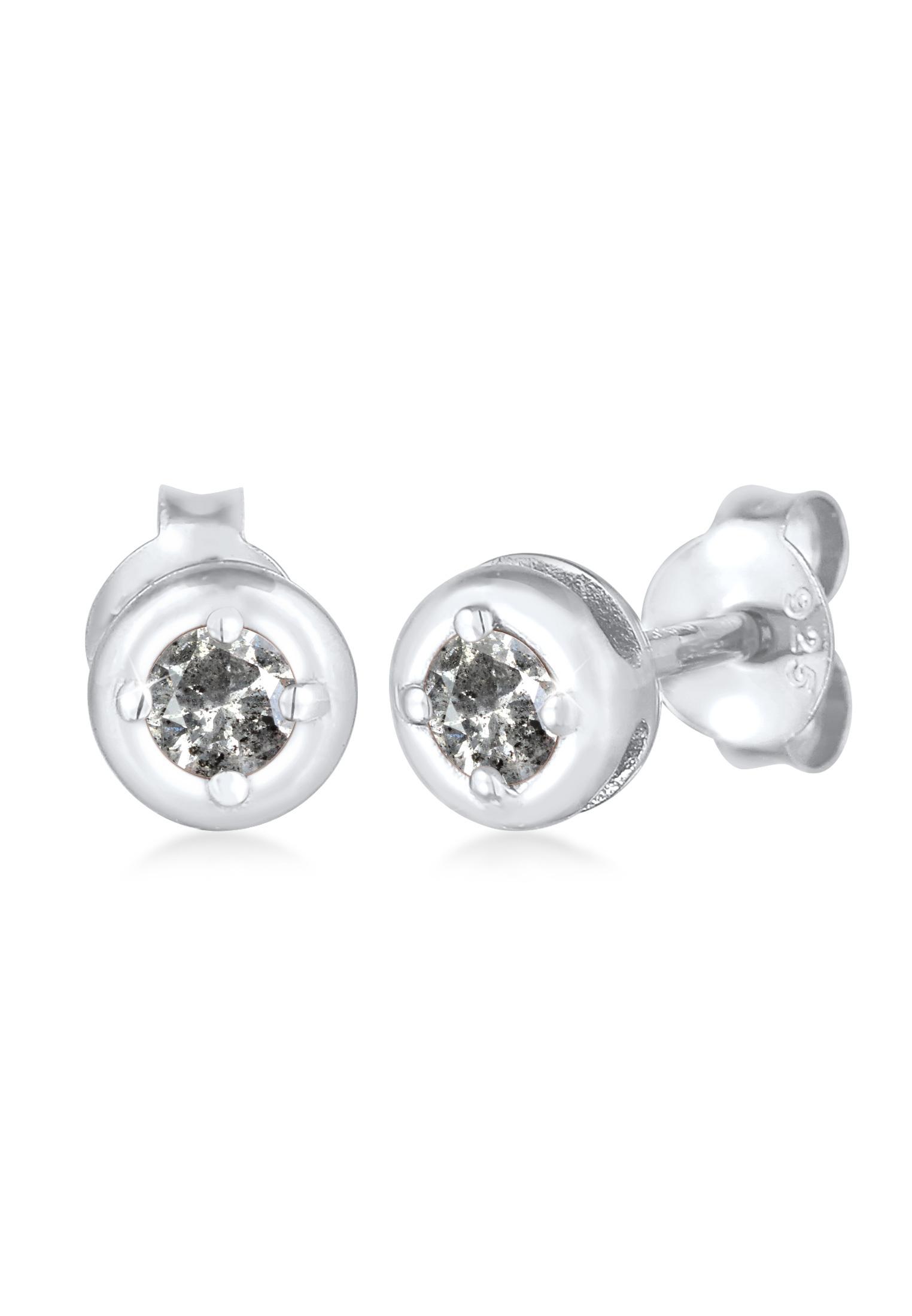 Ohrstecker   Salt & Pepper Diamant (0.11 ct.)   925er Sterling Silber