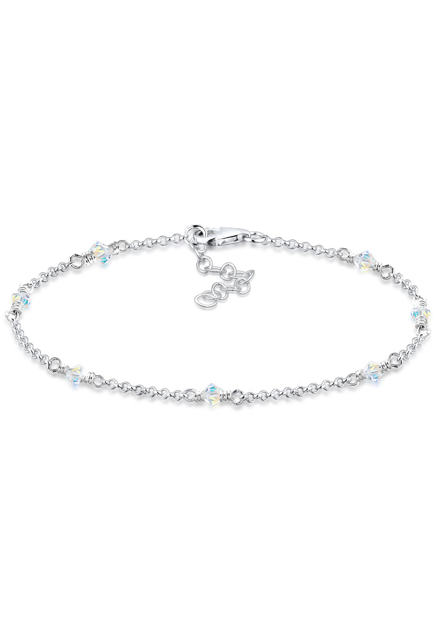 Armband   Kristall ( Weiß )   925er Sterling Silber