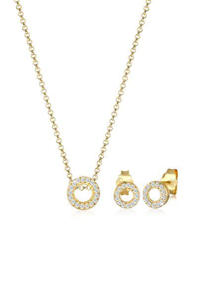 Schmuckset | Diamant ( Weiß, 0,215 ct ) | 375 Gelbgold