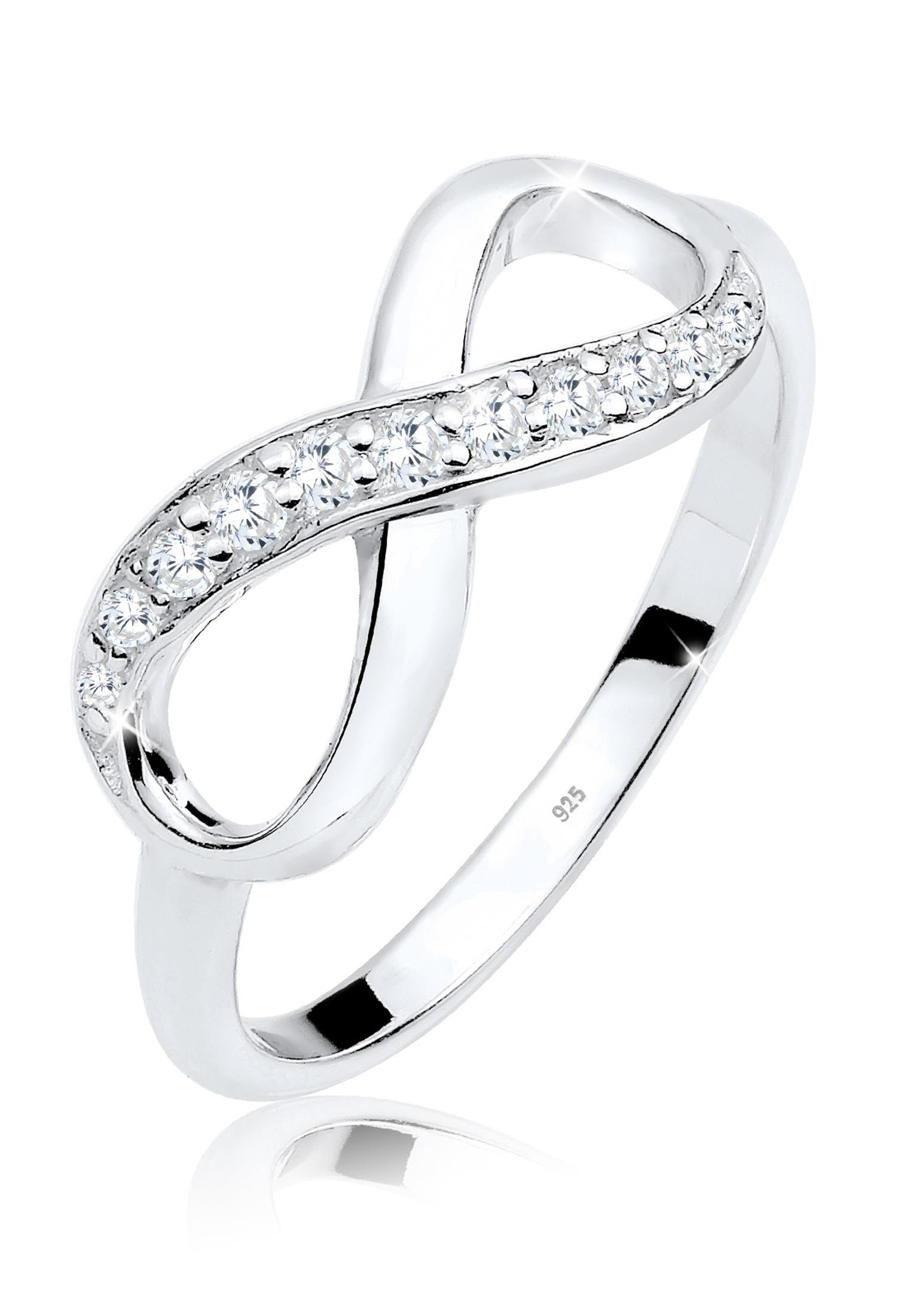 Ring Infinity | Zirkonia ( Weiß ) | 925er Sterling Silber