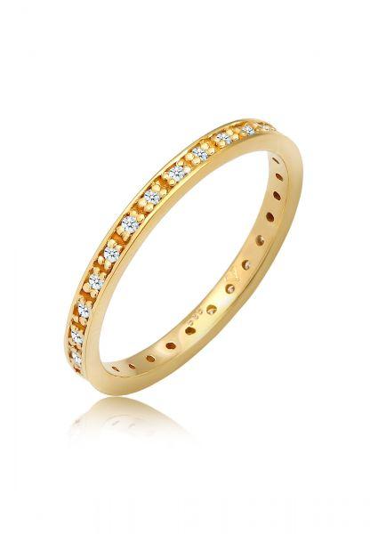 Verlobungsring   Diamant ( Weiß, 0,14 ct )   585 Gelbgold