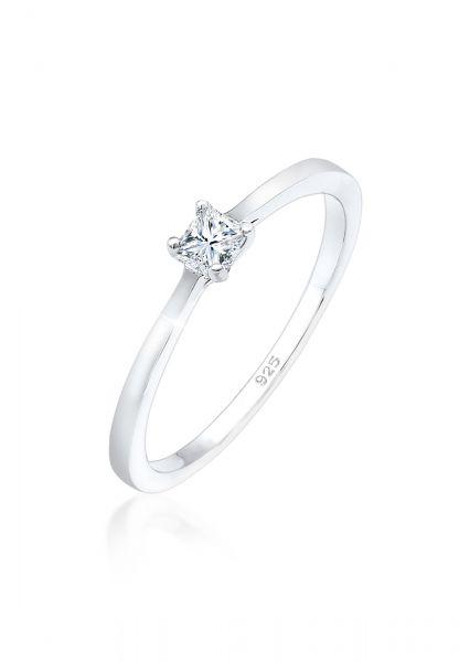 Verlobungsring | Diamant ( Weiß, 0,1 ct ) | 925er Sterling Silber