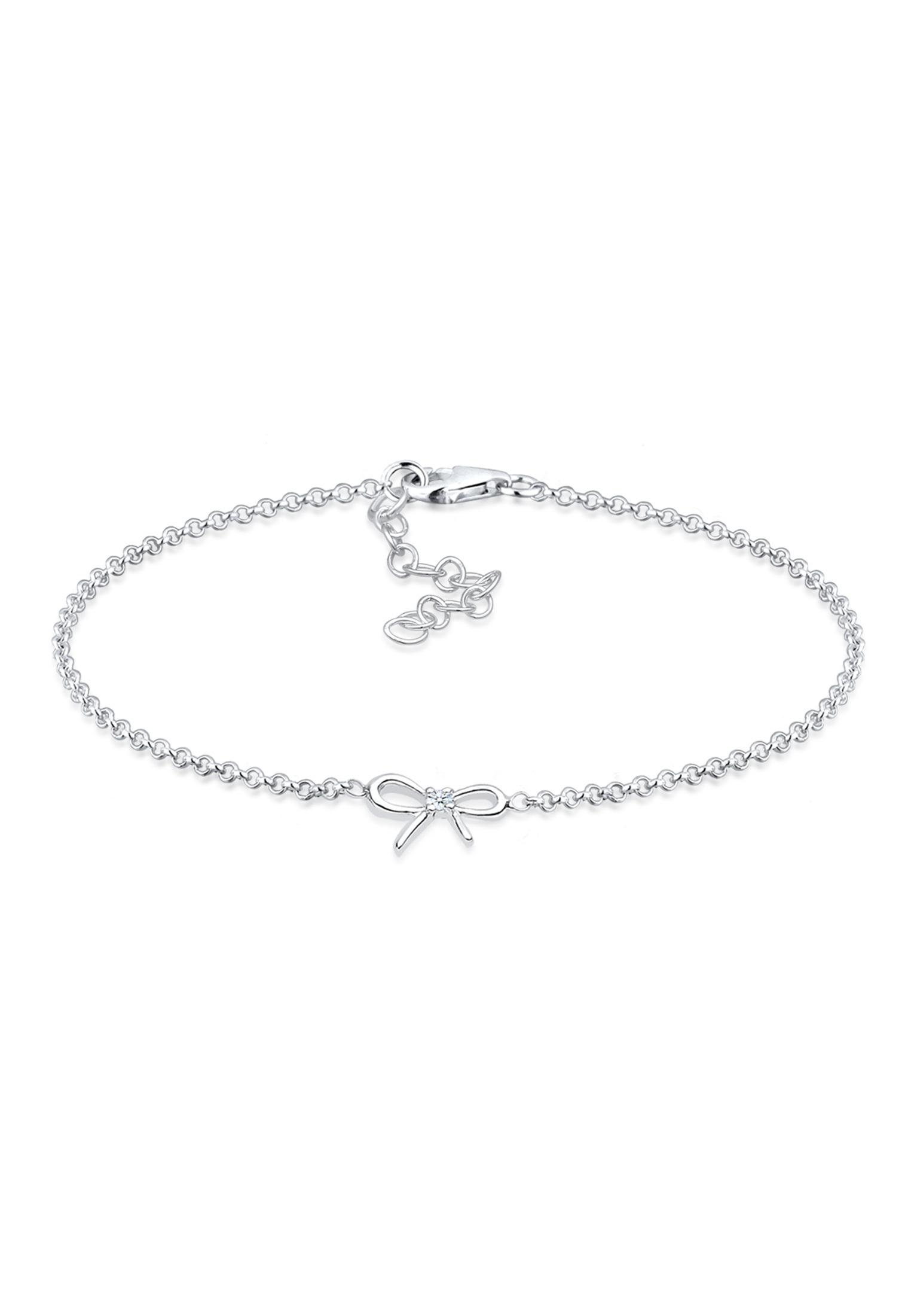 Armband Schleife | Diamant ( Weiß, 0,015 ct ) | 925er Sterling Silber