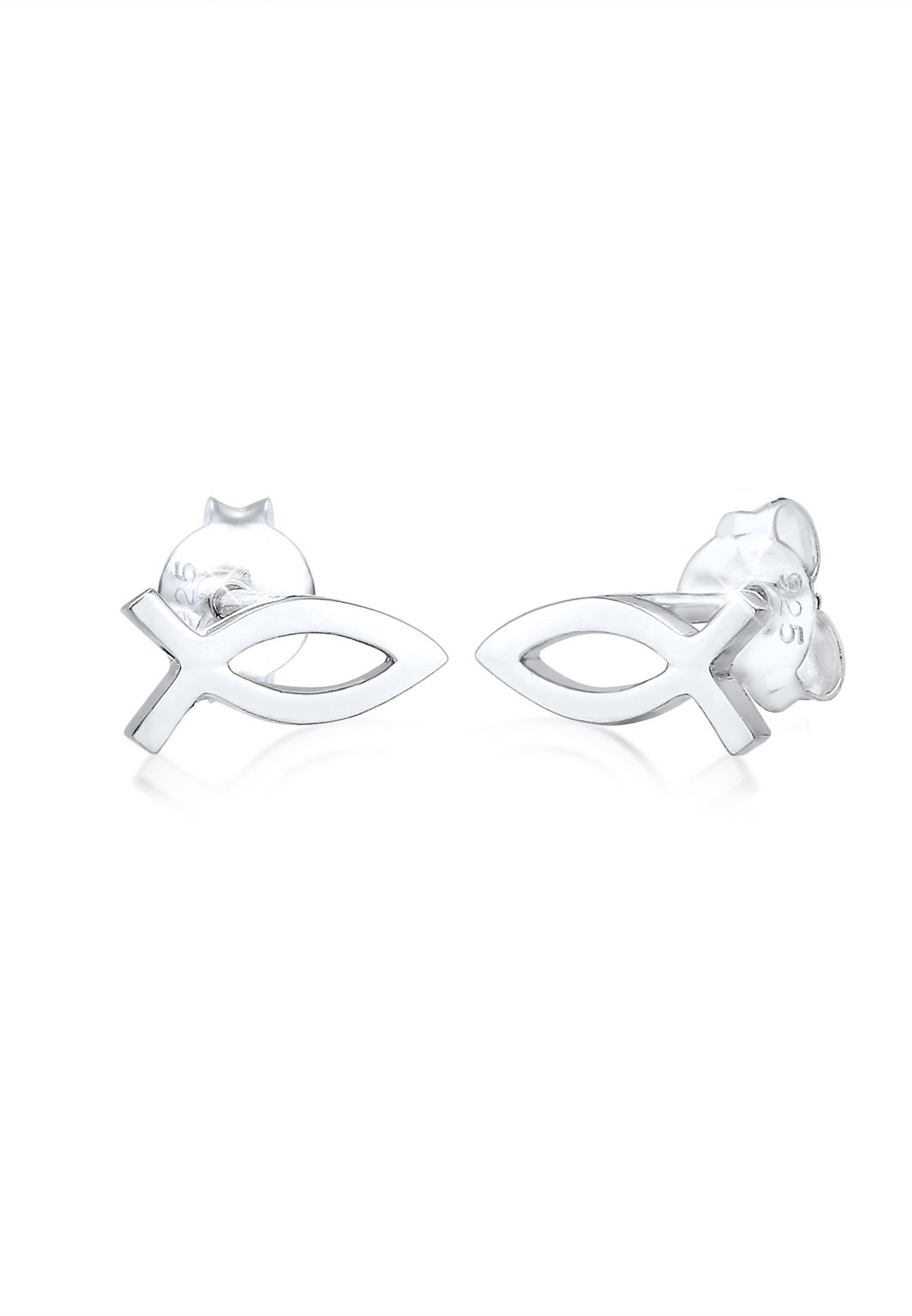 Ohrring Fisch | 925er Sterling Silber