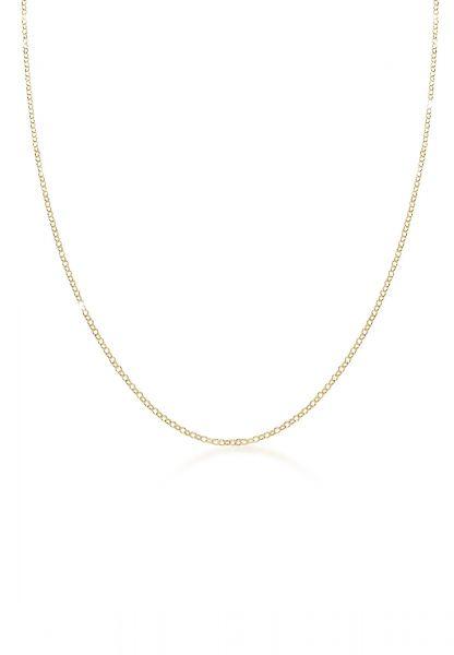 Elli PREMIUM Halskette Basic Erbskette Klassisch 375er Gelbgold (9 Karat)