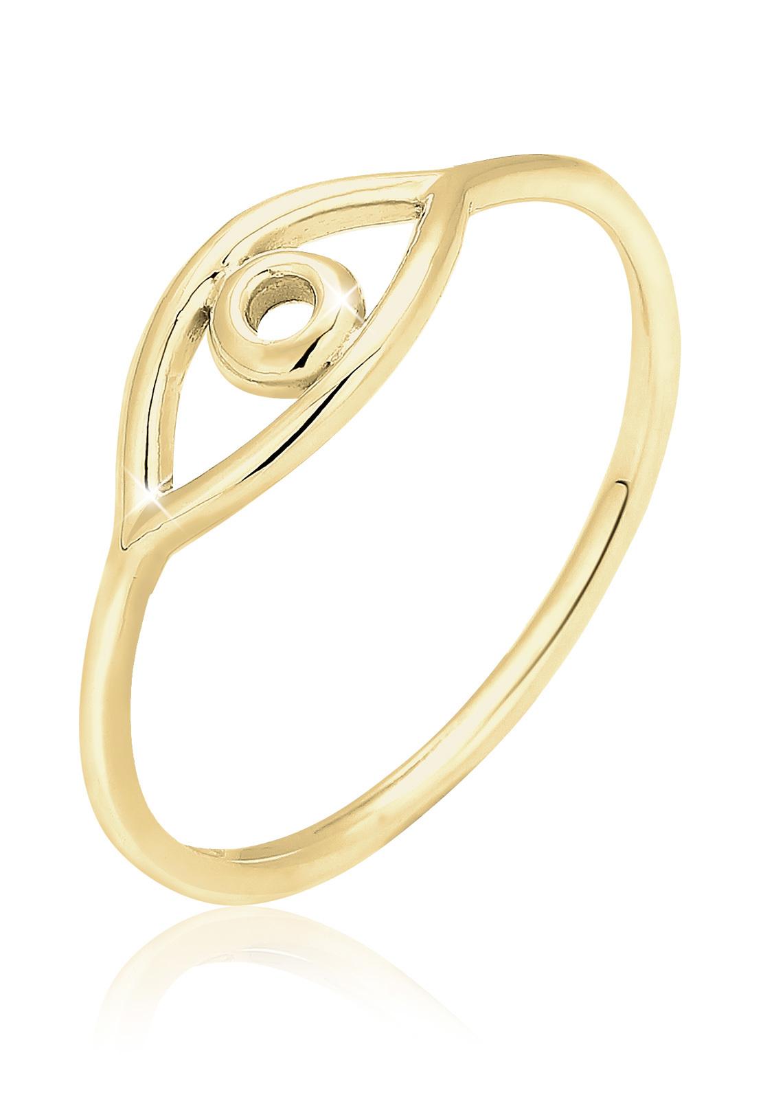 Ring Evil Eye   375 Gelbgold