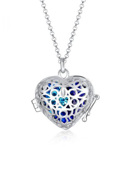 Elli Halskette *Tausch dein Herz* Kristalle 925 Silber