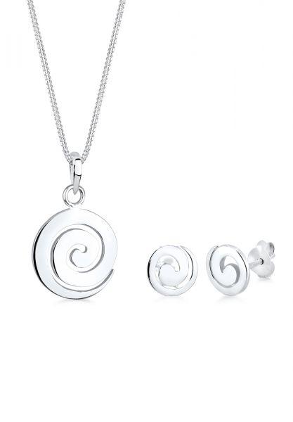 Elli Schmuckset Spirale Rund Kreis 925 Sterling Silber