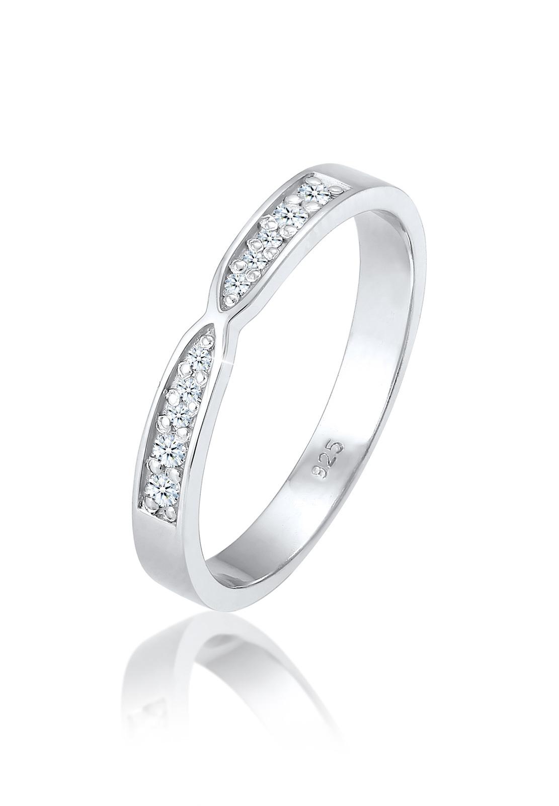 Verlobungsring | Diamant ( Weiß, 0,09 ct ) | 925er Sterling Silber