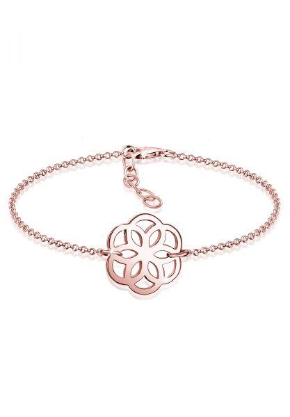 Elli Armband Blume Ornament Flower of Life 925 Sterling Silber