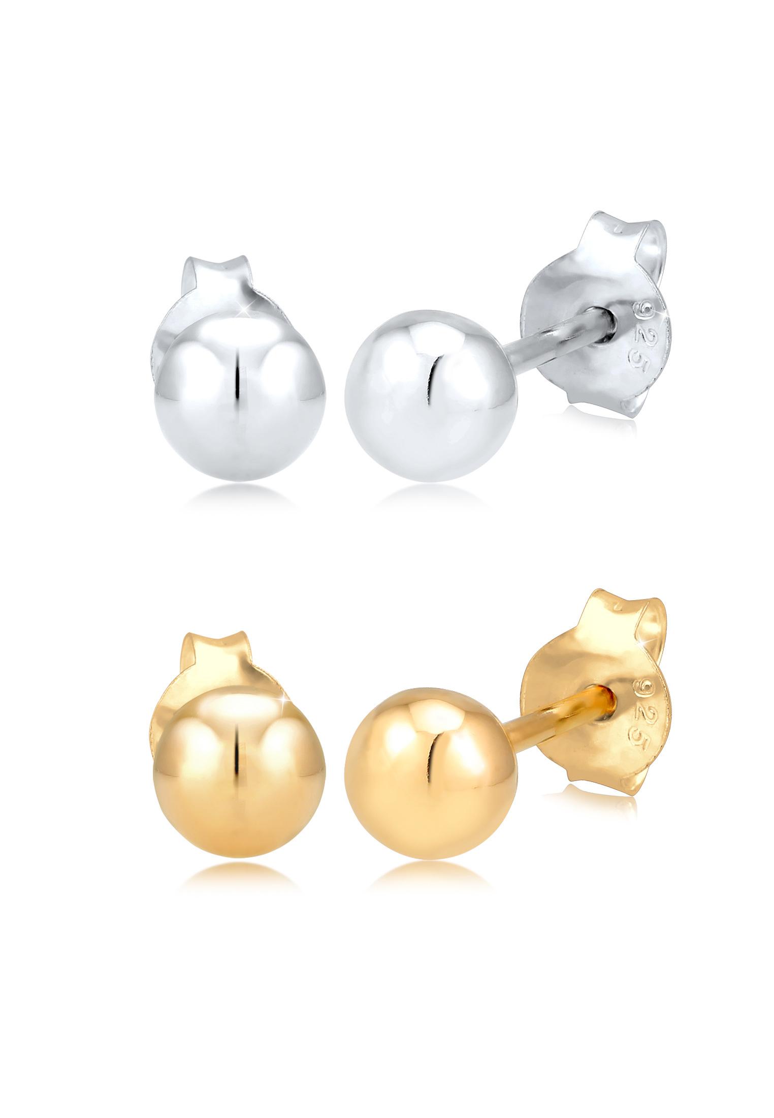 Ohrringset | 925 Sterling Silber vergoldet