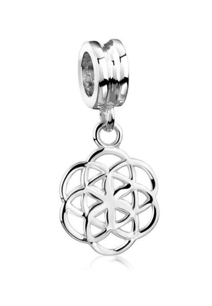 Nenalina Charm Anhänger Blume des Lebens Bead 925 Sterling Silber