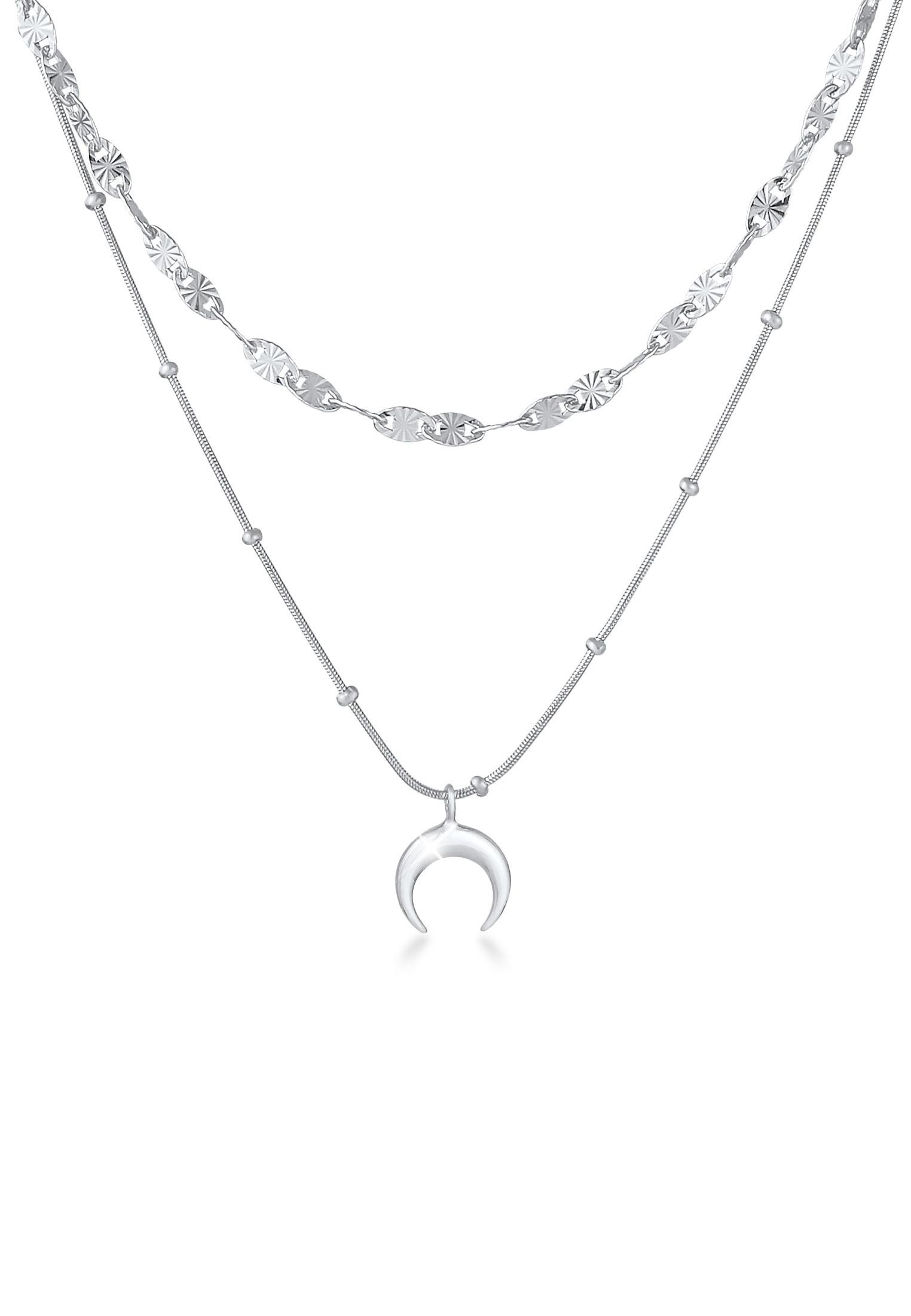 Layer-Kugel-Halskette Astro   925er Sterling Silber