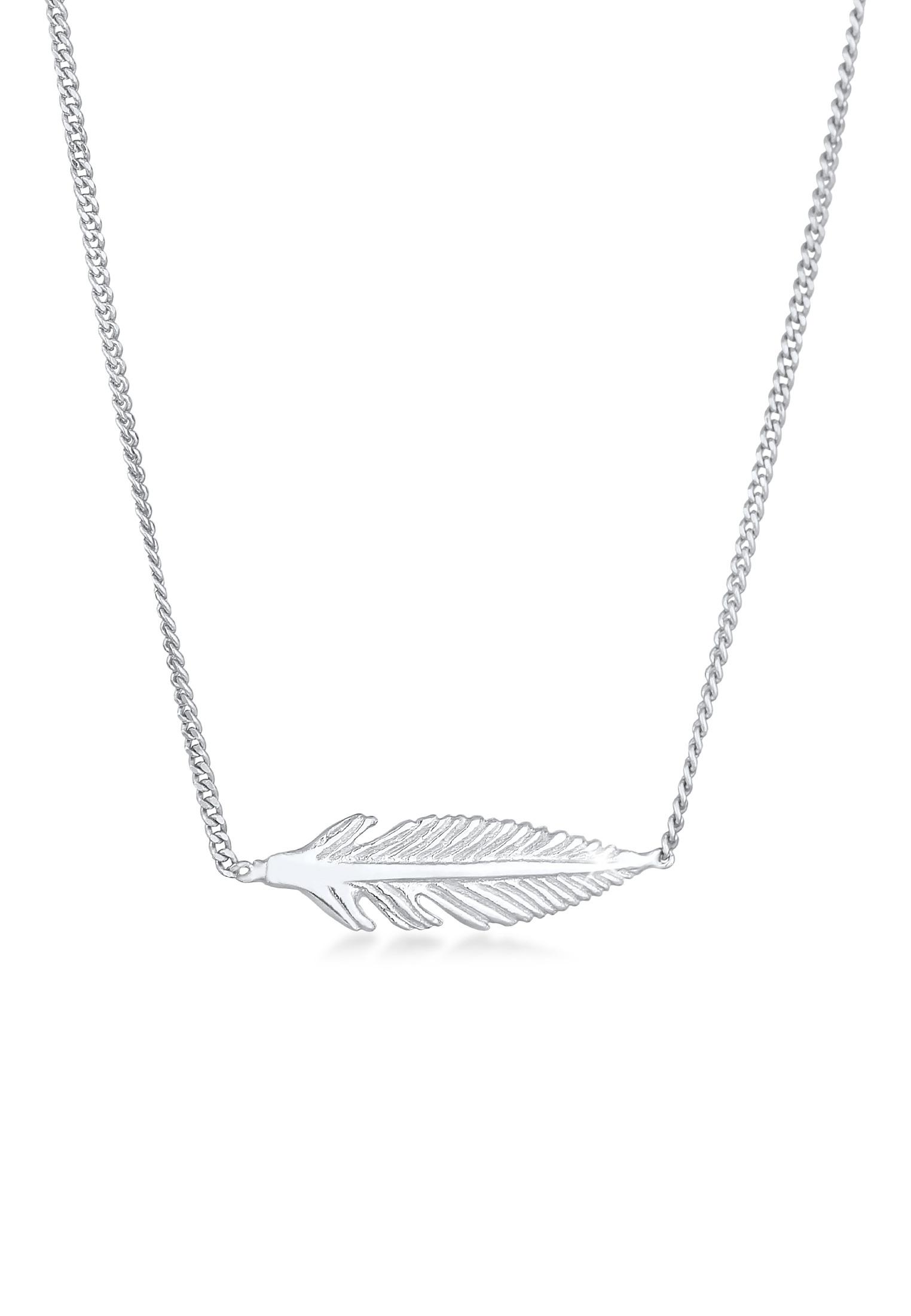 Halskette Engelsfeder   925er Sterling Silber