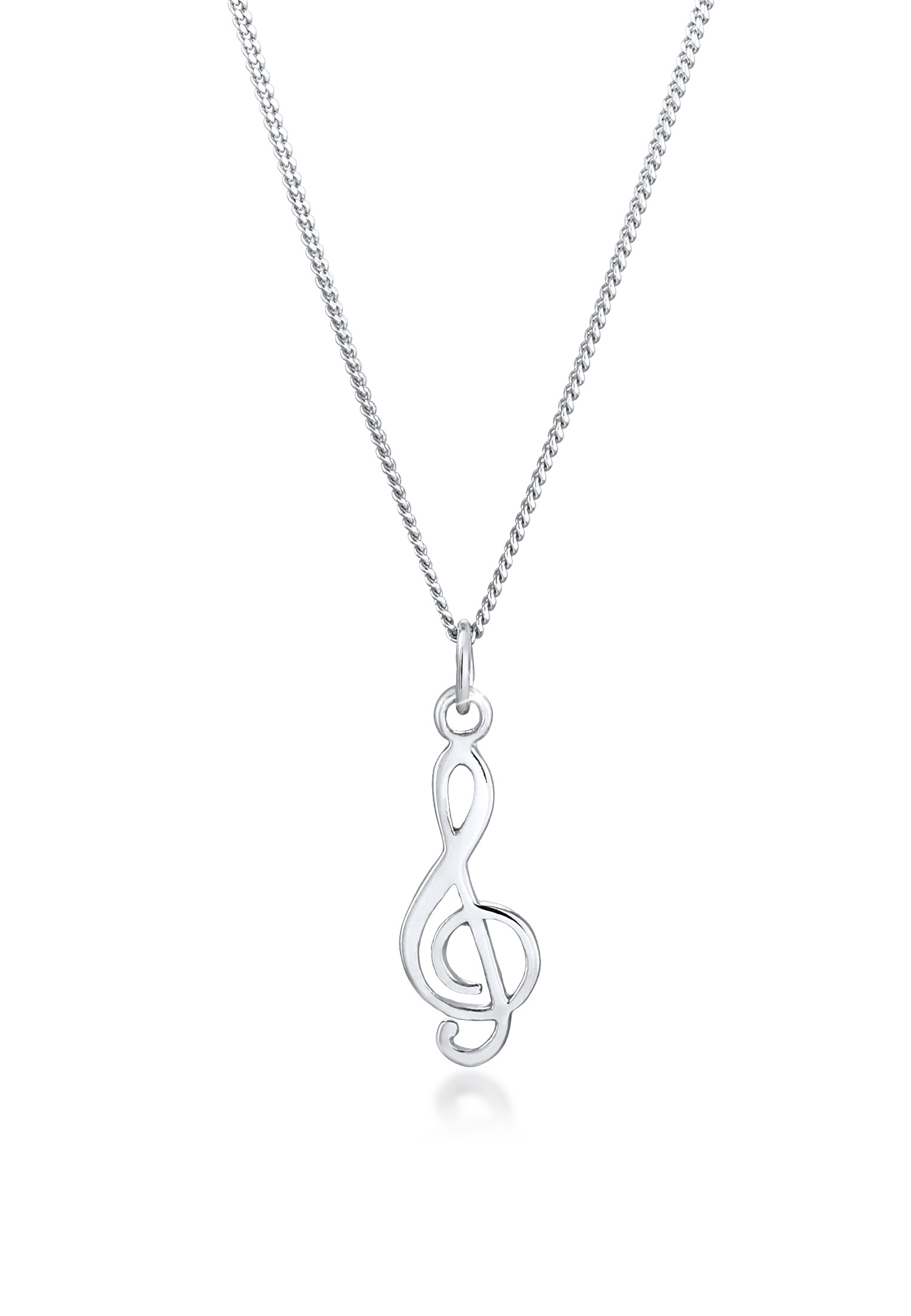Halskette Notenschlüssel   925er Sterling Silber