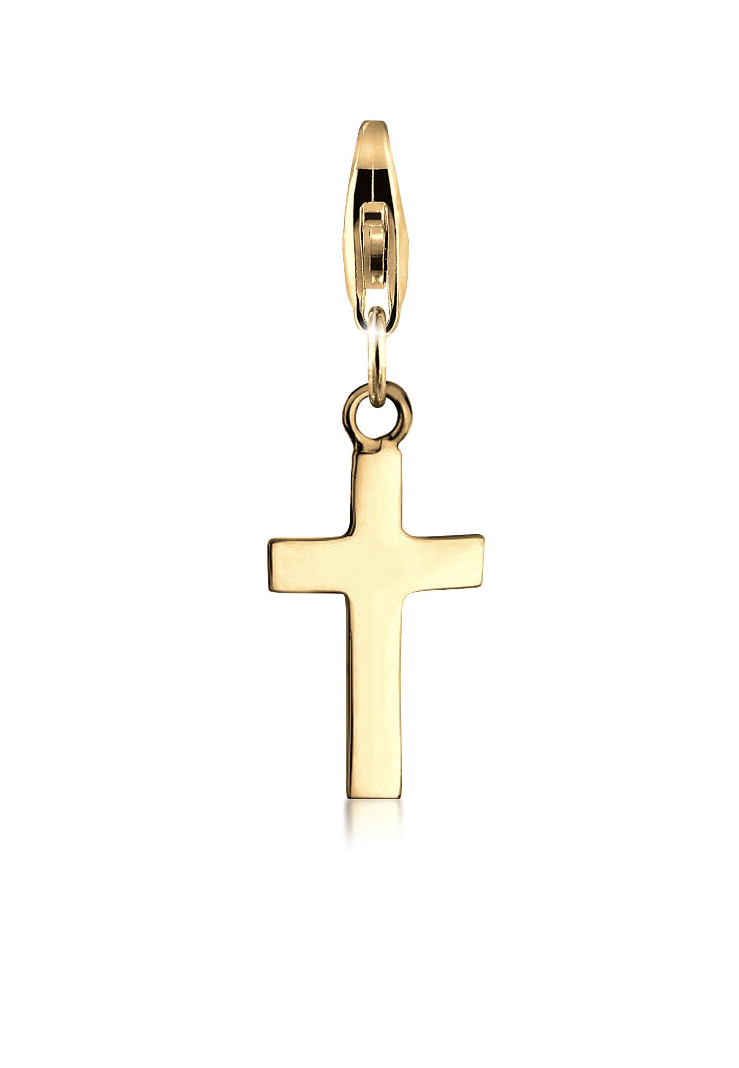Charm Kreuz   925er Sterling Silber