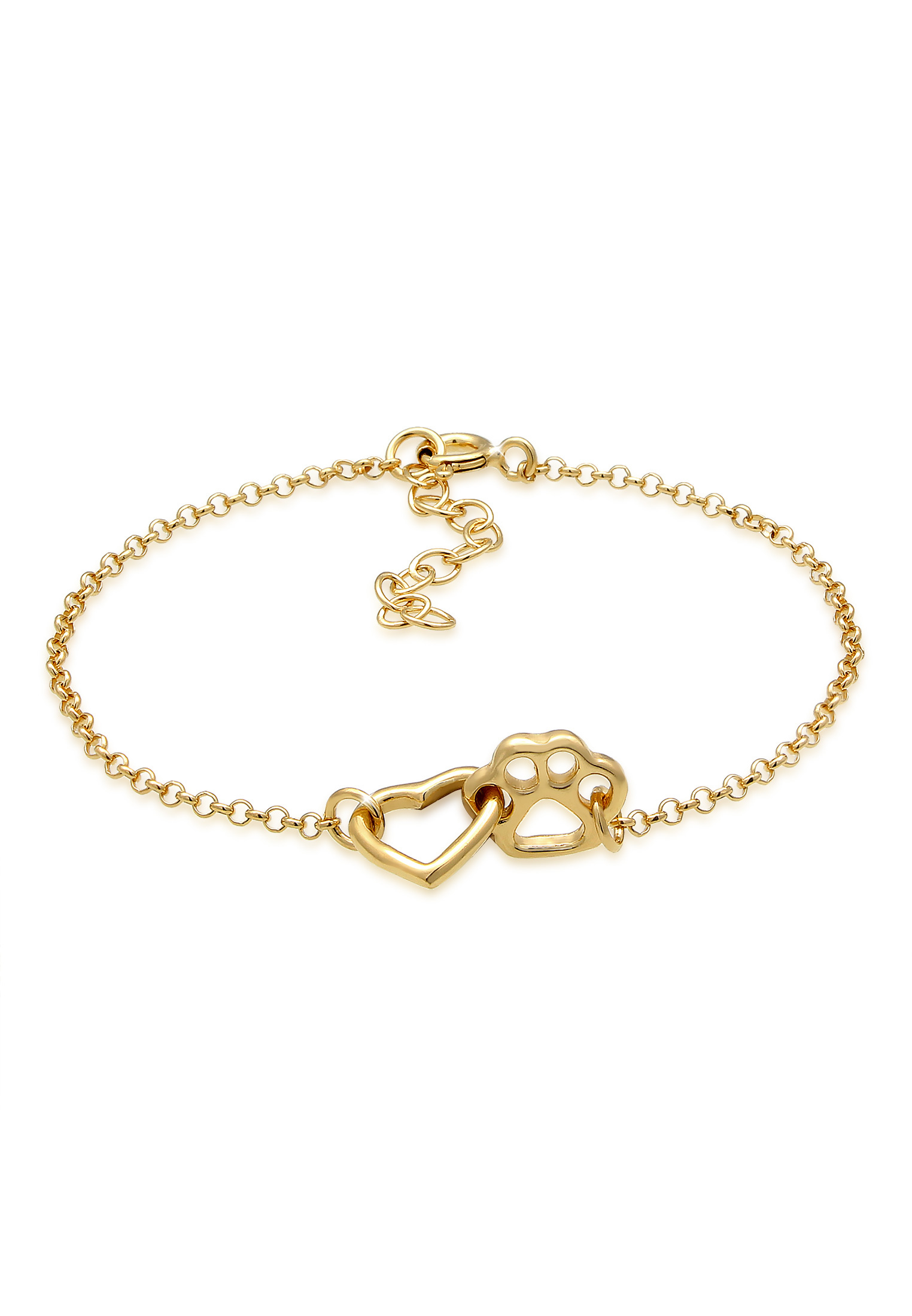 Armband Herz   925 Sterling Silber vergoldet