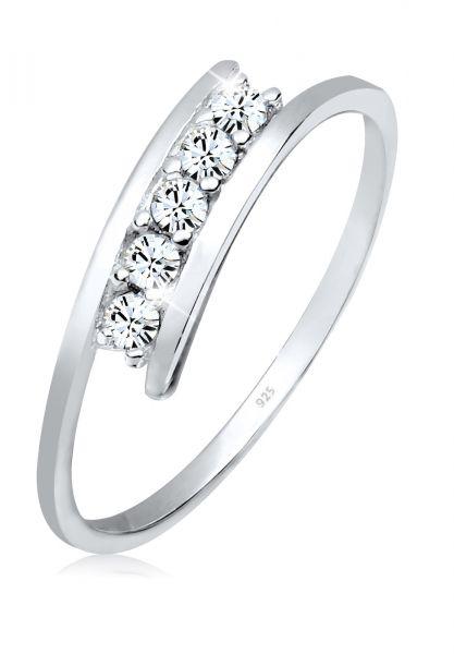 Wickelring | Kristall ( Weiß ) | 925er Sterling Silber