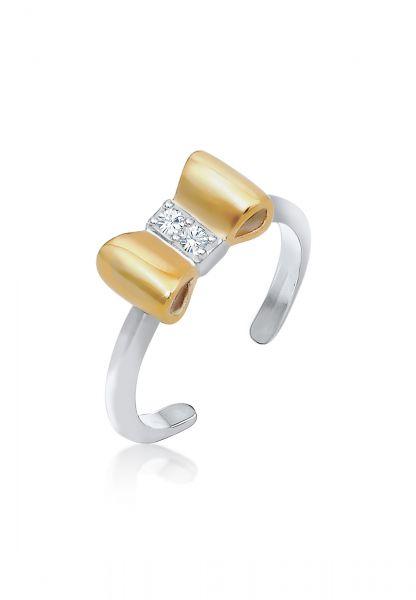 Elli Ring Kinder Schleife Kristalle 925 Silber
