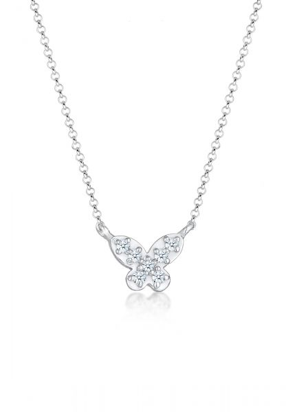 DIAMORE Halskette Schmetterling Diamanten (0.105 ct) 925 Silber