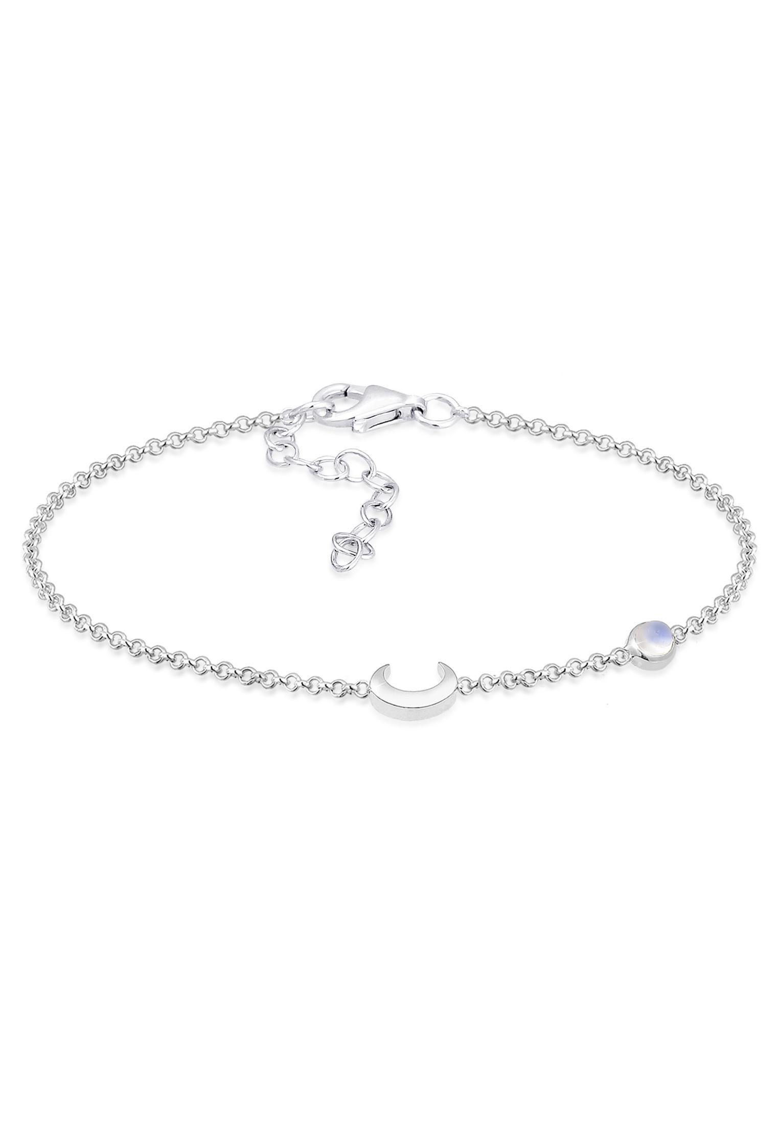 Armband Astro | Mondstein ( Weiß ) | 925 Sterling Silber vergoldet