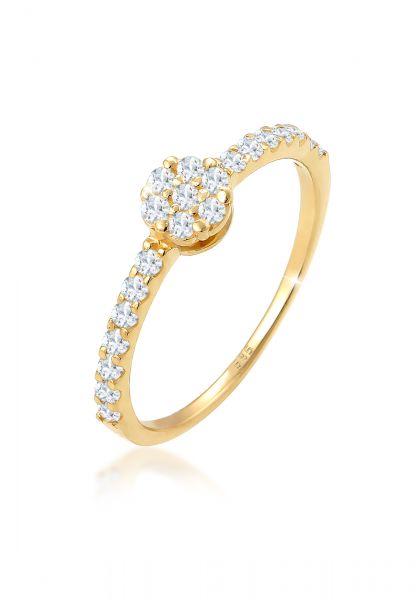 Verlobungsring   Topas ( Weiß )   585 Gelbgold