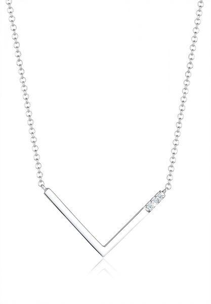 Halskette Dreieck | Diamant ( Weiß, 0,045 ct ) | 925er Sterling Silber