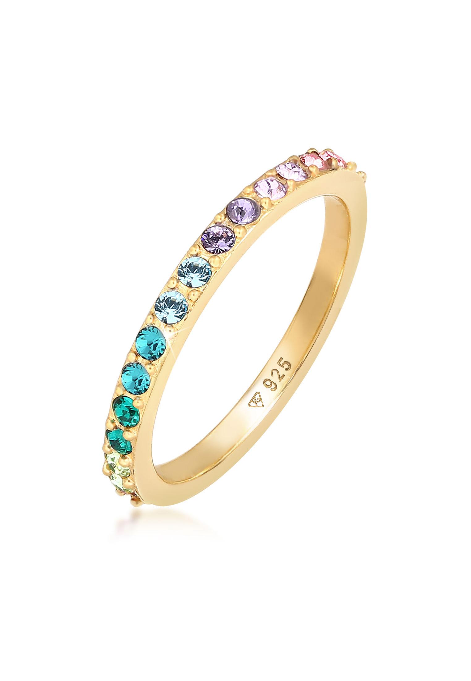 Bandring | Kristall (Bunt) | 925er Sterling Silber