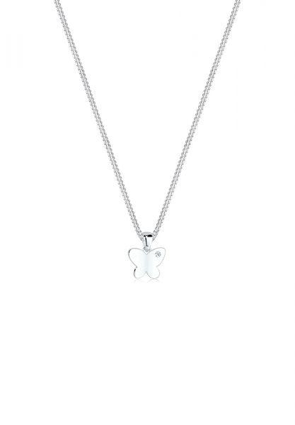 Elli PREMIUM Halskette Schmetterling Diamant 925 Sterling Silber