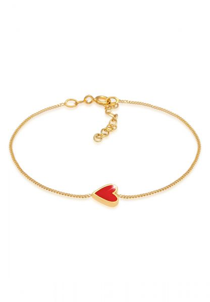 Elli Armband Herz Liebe Love Valentinstag 925 Silber vergoldet