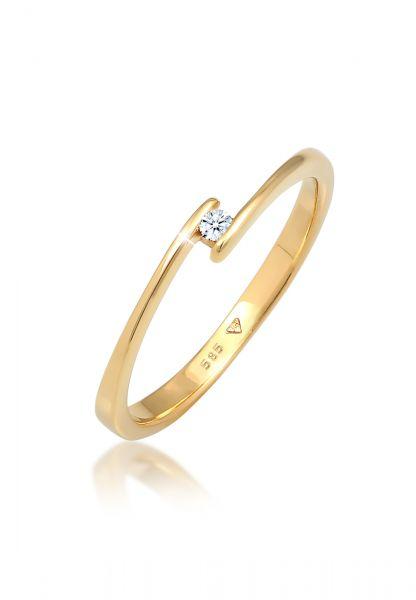 DIAMORE Ring Verlobungsring Diamant (0.03 ct.) 585 Gelbgold