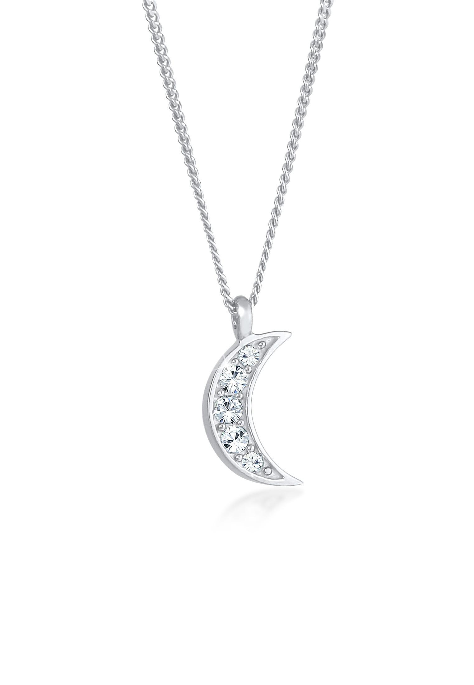 Halskette Astro   Kristall ( Weiß )   925er Sterling Silber