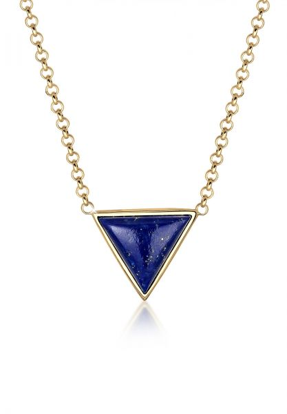 Elli Halskette Geo Dreieck Lapis Lazuli 925 Silber