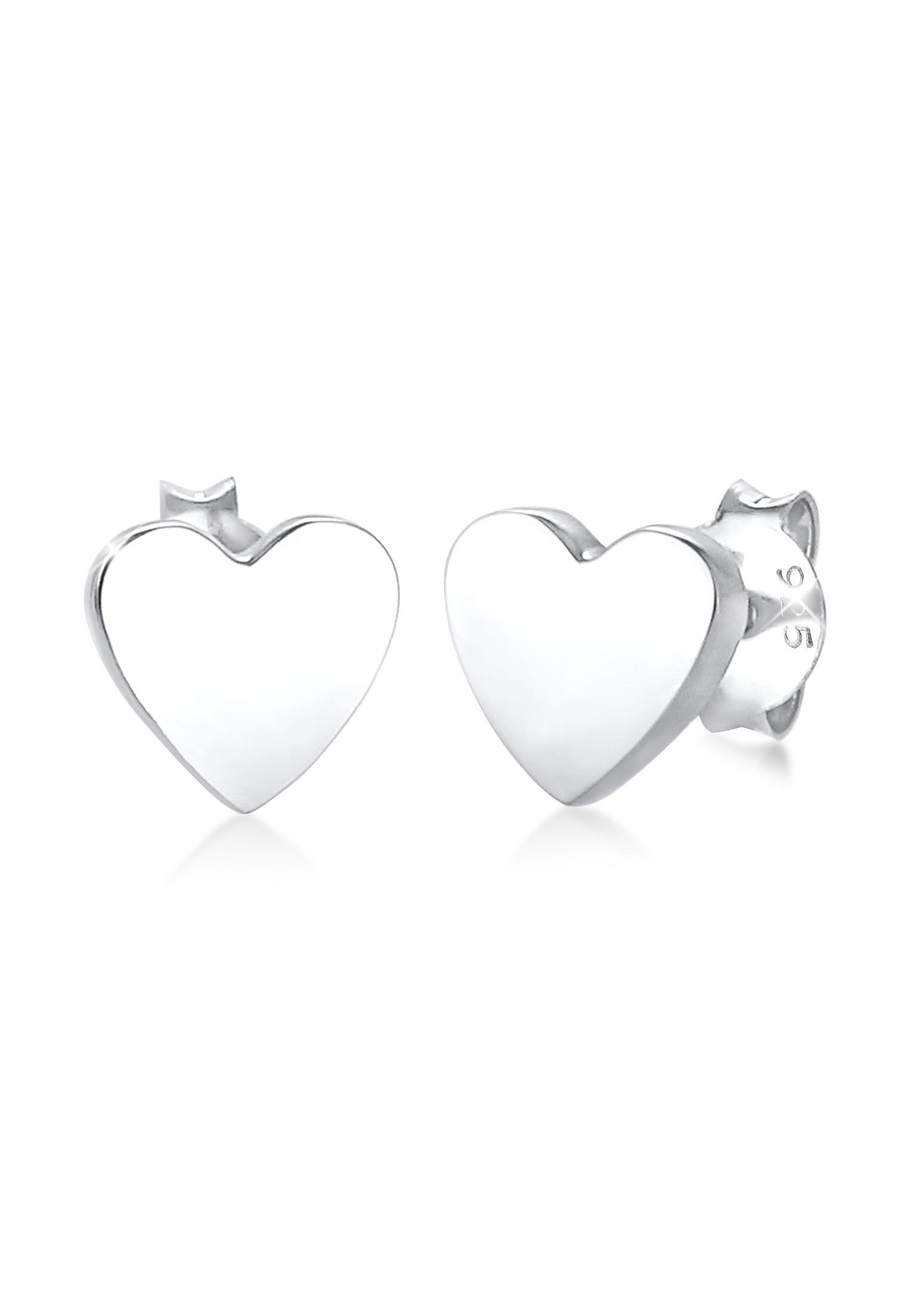 Ohrring Herz | 925er Sterling Silber