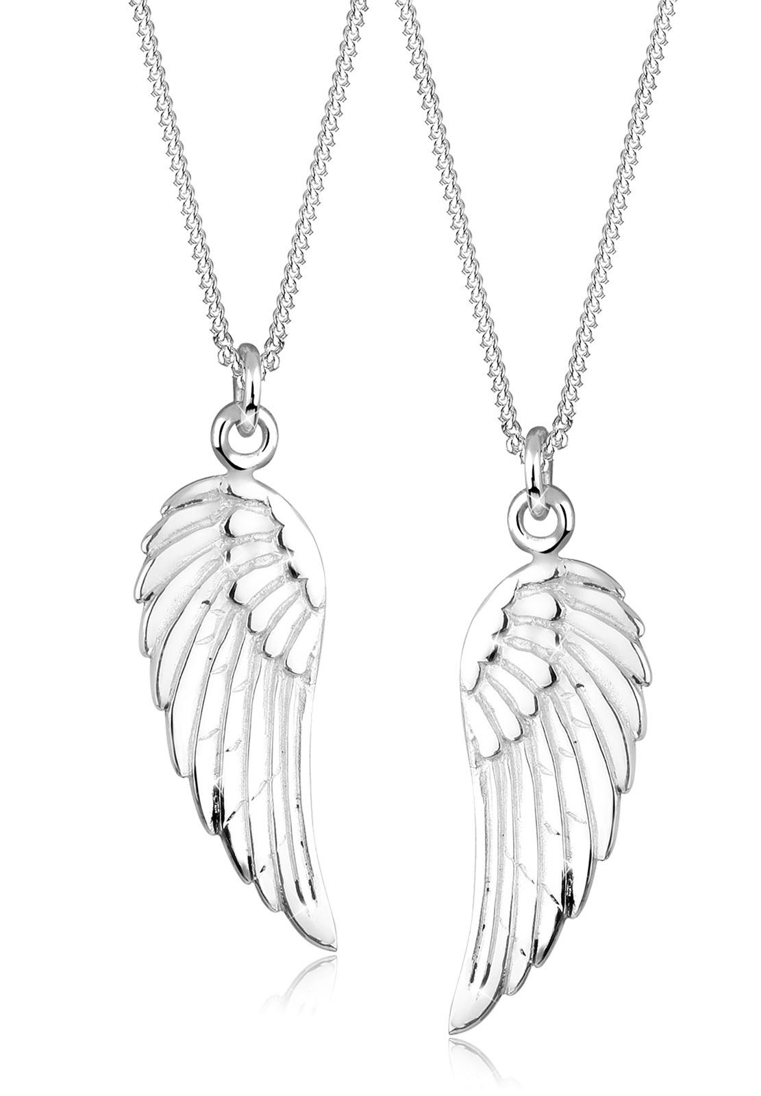 Halskettenset Flügel   925er Sterling Silber