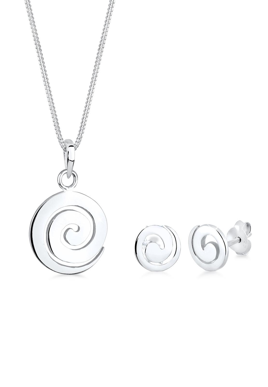 Schmuckset Spirale | 925er Sterling Silber