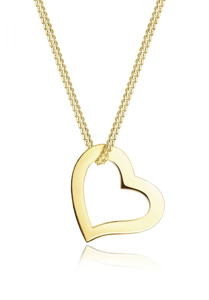 Halskette Herz | 375 Gelbgold