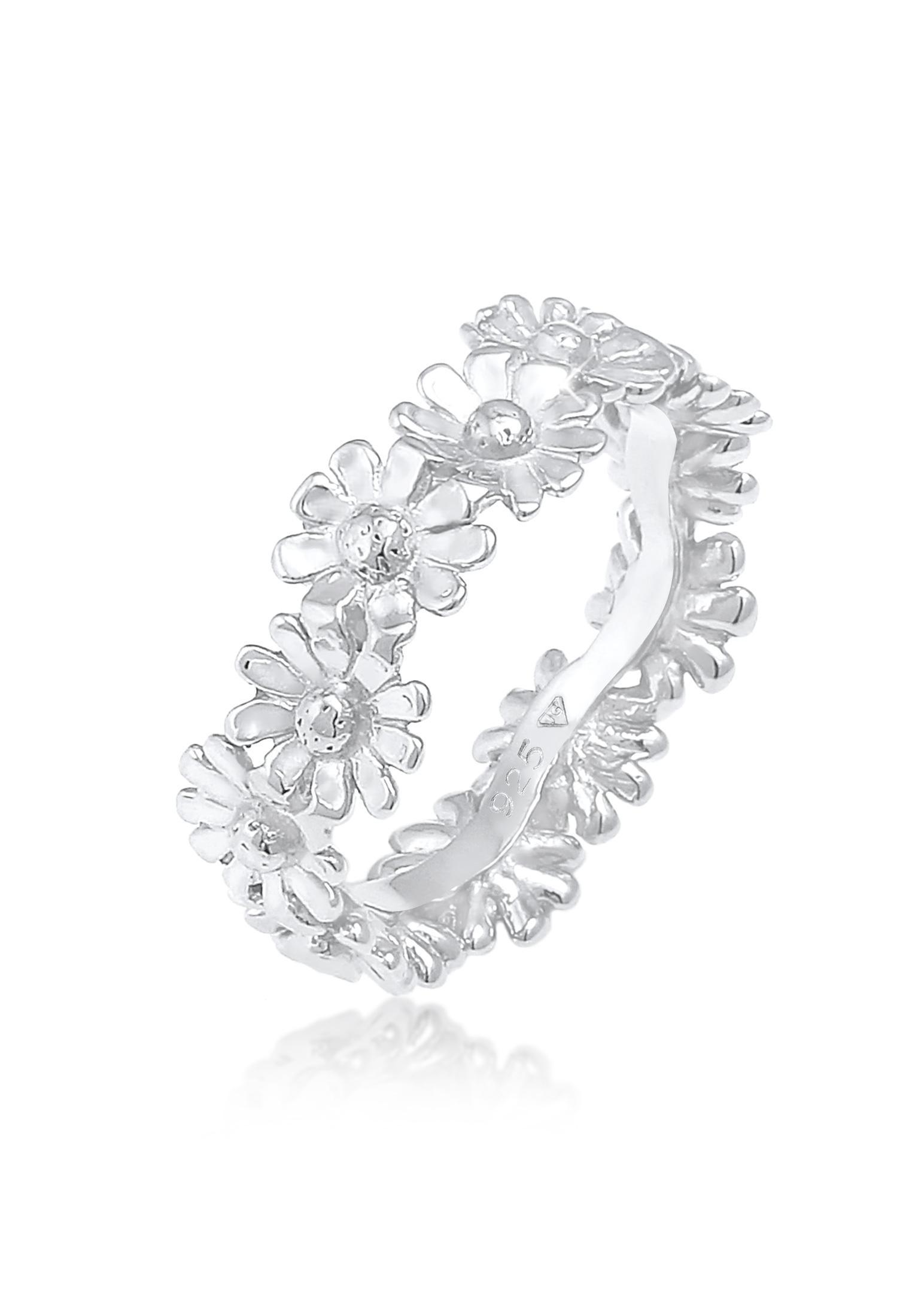 Ring Blume   925er Sterling Silber