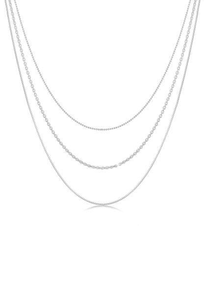 Elli Halskette Basic Layer Lagen Look Trend Blogger 925 Silber