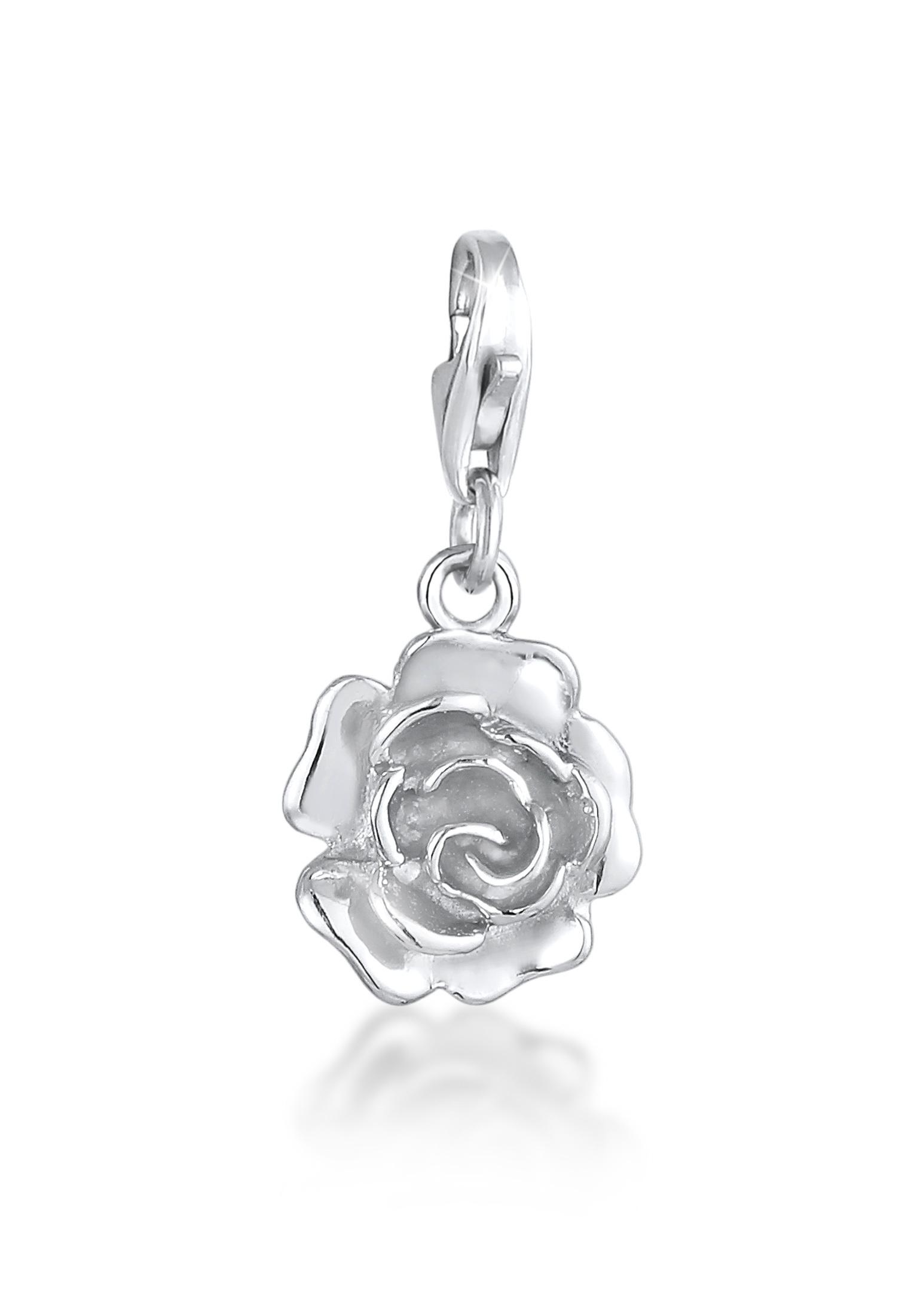 Charm Rose   925er Sterling Silber
