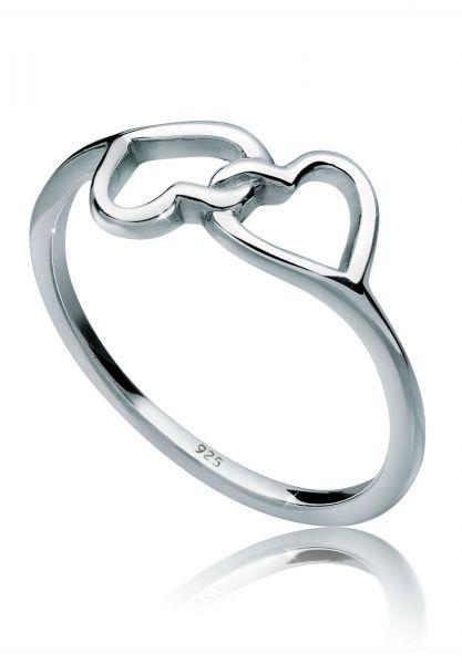 Elli Ring Herz Symbol Verbunden 925 Silber